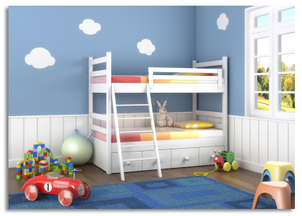 Coordinated paint colors kidsrooms 2013 - Colors for kids room ...
